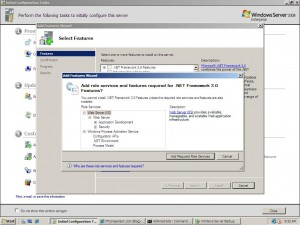 windows 2008 Enterprise 64-bit add features webserver iis 7