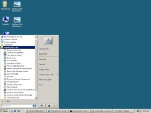 windows 2008 Enterprise SP1 graphical interface